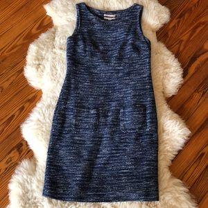 Banana Republic Blue Tweed Dress